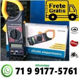 Título do anúncio: Alicate Amperimetro Medidor Ac / dc Luatek Multimetro (NOVO)