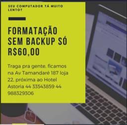 Formatação de Notebooks e PC