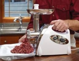 Moedor de carne elétrico completo excelente pra fazer linguiça ,amburguer e muito mais