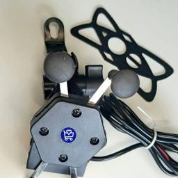 *SUPORTE PARA MOTO COM CARREGADOR USB*<br>
