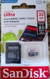 Cartão de memória Sandisk 32GB com Adaptador