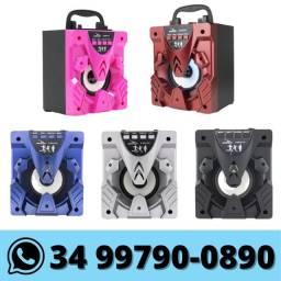 Caixa De Som Bluetooth C/ Entrada Micro Sd Usb P2 Fm