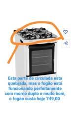 Fogão Esmaltec safira glass