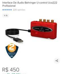Interface de gravação profissional uca 222