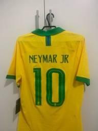 camisa brasil 2019/2020 modelo jogador neymar jr