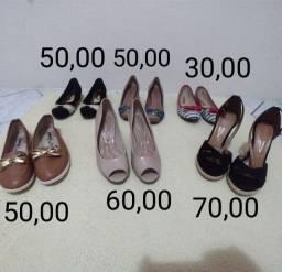 Calçados feminino sapatilha salto