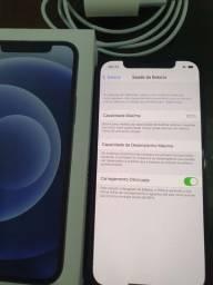 Iphone 12 - 128gb black - NOTA FISCAL e Saúde da bateria 100%