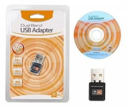 Adaptador Wifi Dual Band 2.4 / 5ghz 600mbps Wireless Ac 5g