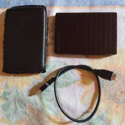 HD Esteno de 1tb seminovo e um repetidor de wi-fi 300mbps