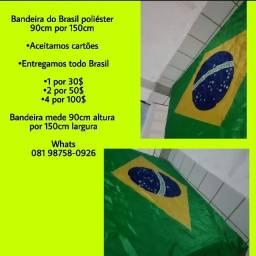 Bandeiras do Brasil em promoção