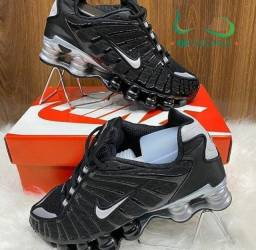 Tênis Nike 12 MOLAS preto/prata Bally refletivo (PROMOÇÃO)