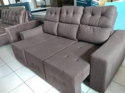 Sofa lina reta 2,10 retrátil e reclinável