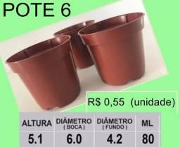 Vasos Plásticos Para Cactos e Outros A partir 55 Centavos