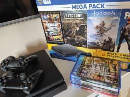 Playstation 4 1TB Semi-Novo com jogos