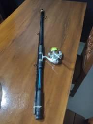 Vara de pesca e molinete