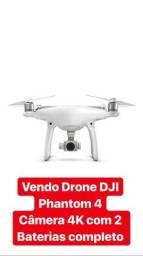 Drone DJI PHANTOM 4 4K sensor anti-colisão 2 baterias