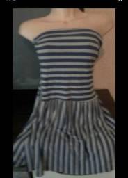Vestido De coton tomara que caia com cinto