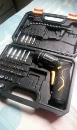 Parafusadeira elétrica DEKO sem fio bateria recarregável com maleta e acessórios