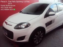 Fiat - Palio Sporting 1.6 Flex - Top de Linha - Periciado - Placa A - 2013