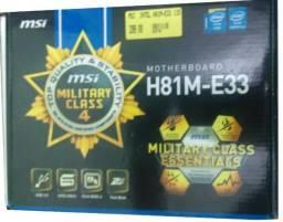 Processador I5 4430 + Placa Msi H81m-e33 S-1150 + 8gb