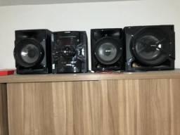 MICRO SYSTEM SONY 300w RMS MP3, 3 CDS