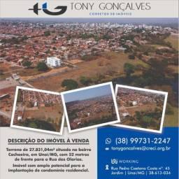 Terreno de 27.831,04m² situado no bairro Cachoeira | Unaí/MG