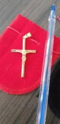 Últimos pingentes de cruz, banhado a ouro 18k novos lindos, valor de cada um