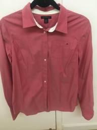 Camisa social Tommy Hilfiger M rosa-queimado