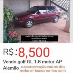 Vende-se Golf 1.8 motor alemão AP com o kit Flex - 1995