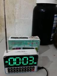 Rádio Relógio Digital Com Despertador Ws-1513 Usb, Sd, Fm