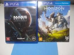 Jogos Horizon Zero Dawn e Mass Effect Andromeda PS4