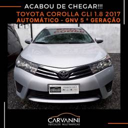 Toyota Corolla GLI 1.8 2017 Automático com GNV 5ª Geração