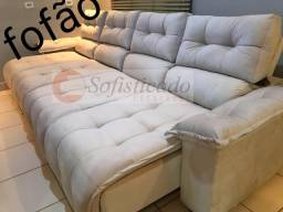 Sofá retrátil e reclinável sobre encomenda