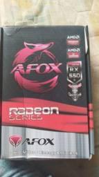 Placa de vídeo Radeon RX550 4GB (Nova)