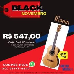 Violão Estudante Rozini AC. Fosco C. Nylon c/ bag RX201.ACNF - Promoção