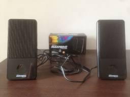 Caixa de Som USB Slim, Maxprint p/ PC e Notebook