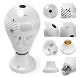 Lampada Camera Ip Espia Detetive Ultra Hd Visao Noturna Sensor de Movimento