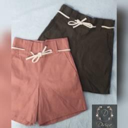 Shorts em tecido formal