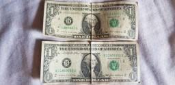 Vendo notas de dollar sequenciais - Antiguidade