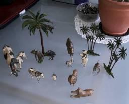 Figuras de zoológico em chumbo - 1940 / 1950