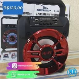Caixa De Som Portátil Mp3 Usb Bluetooth Grasep D-s3 (entrega grátis).