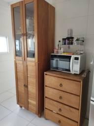Armário e gaveteiro andiroba madeira maciça