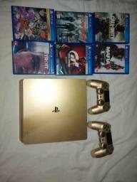 Ps4 Slim Sony 1TB Gold Edition Dourado