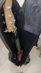 Baixo ativo Squier Jazz Bass Delux V