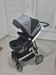 Carrinho de Bebê Dzieco + Bebê Conforto e Base