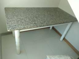 Mesa 6 cadeira em marmore