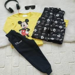 Conjunto Mickey 3 peças