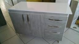 Balcão de pia com gavetão para cozinha novo de fabrica
