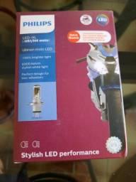 Lâmpada LED H4 PHILIPS 6000K KELVIN para motos.<br>