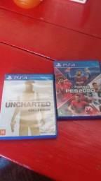 Vendo jogos ps4 semi novo Uncharted Collection  e pés 2020